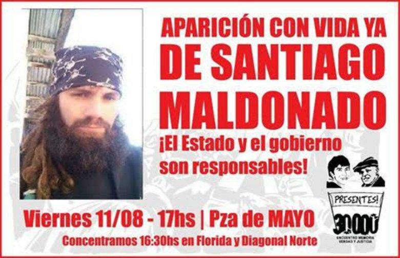 Concentración en Plaza de Mayo por Santiago Maldonado - Hoy- 17 horas.
