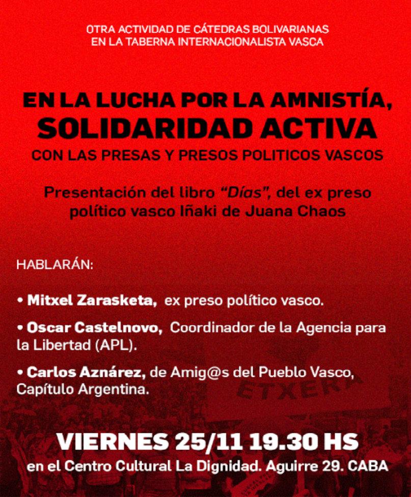 Solidaridad activa con las presas y presos políticos vascos