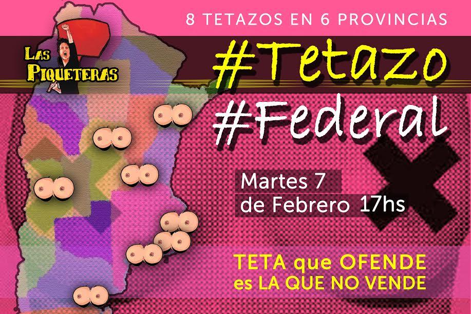 Tetazo Federal en el Obelisco y otras plazas del país- Martes 7 de febrero – 17 horas-