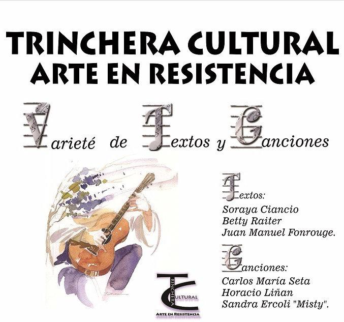 Varieté de textos y canciones en Trinchera Cultural- Sábado 15/7 - 17:30 hs- La Clac, Avenida de Mayo 1158, Caba