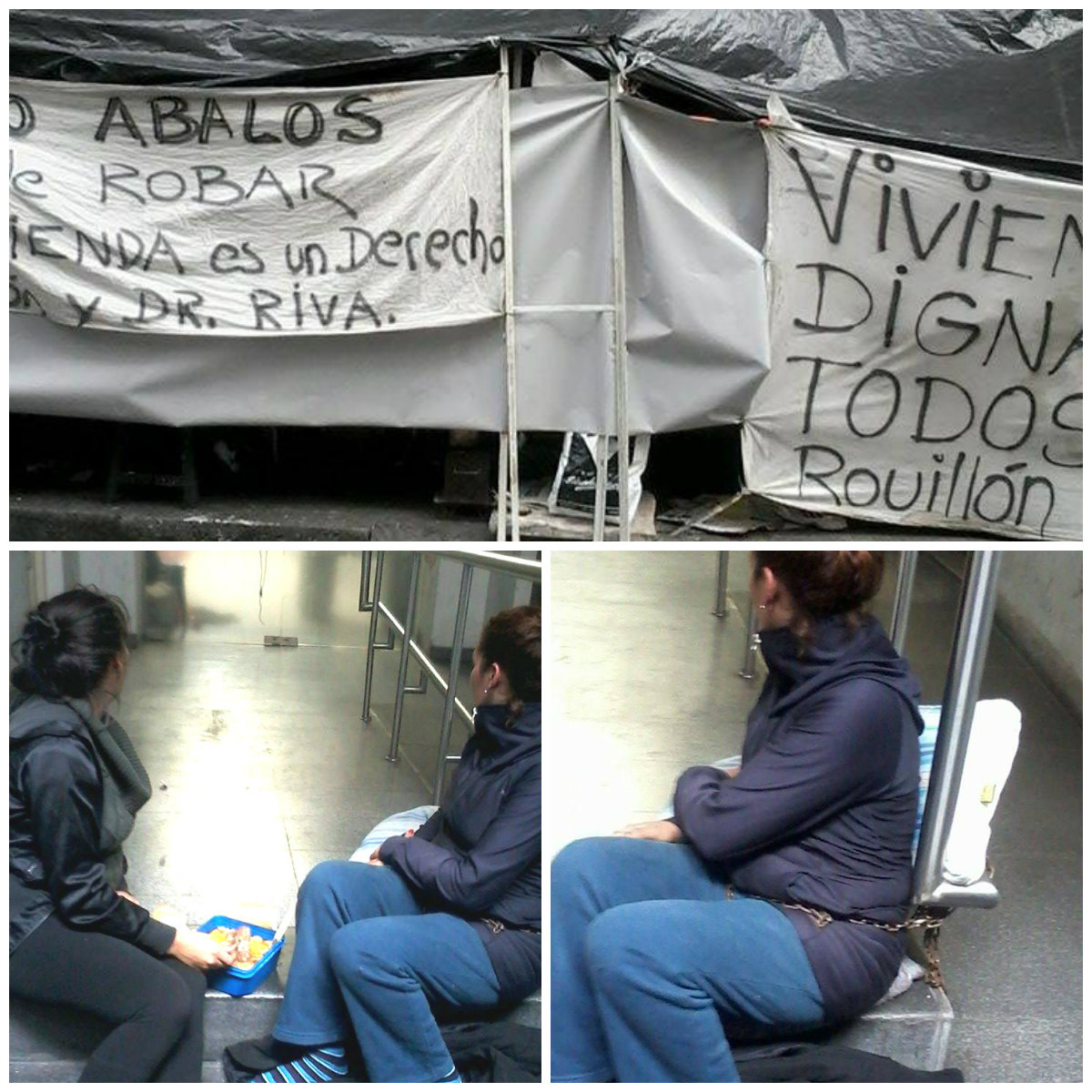 Mujeres encadenadas luchan por derecho a la vivienda