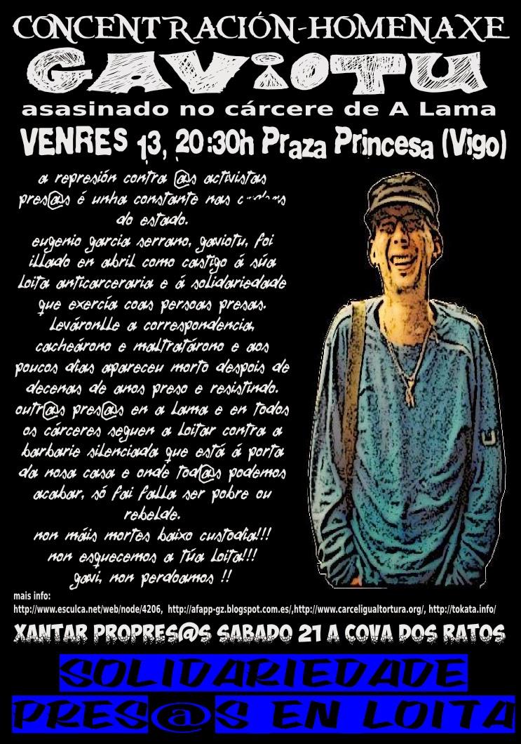 Vigo: Concentración homenaje a Gaviotu asesinado en prisión