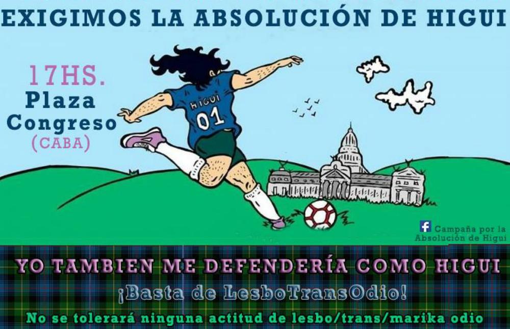 7 de Marzo – Día de la Visibilidad Lésbica – Absolución a Higui ya!! – 17 horas, Plaza Congreso